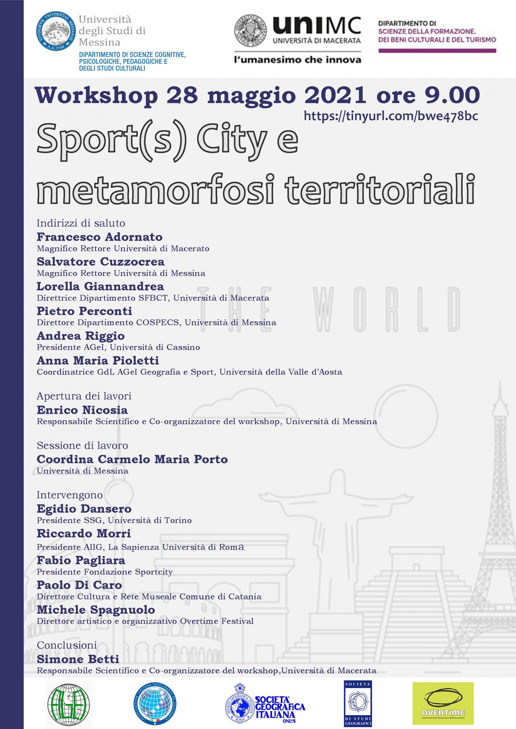 Sport(s) City e metamorfosi territoriali (28/05/2021) | AIIG